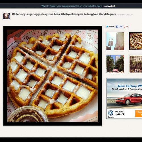 alexandrawrote snap widget waffles babycakes nyc