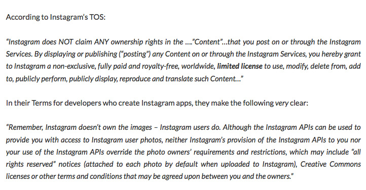 Instagram Terms of Service 3/1