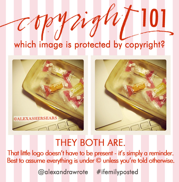 copyright 101 © sign alexandra wrote