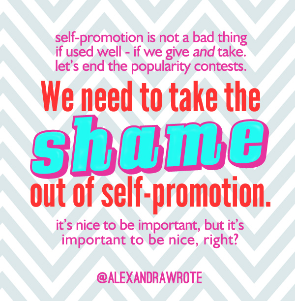 no shame in self promotion alexandra wrote IEP