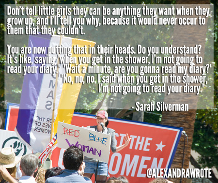 sarah silverman quote alexandraw wrote WOWCALI