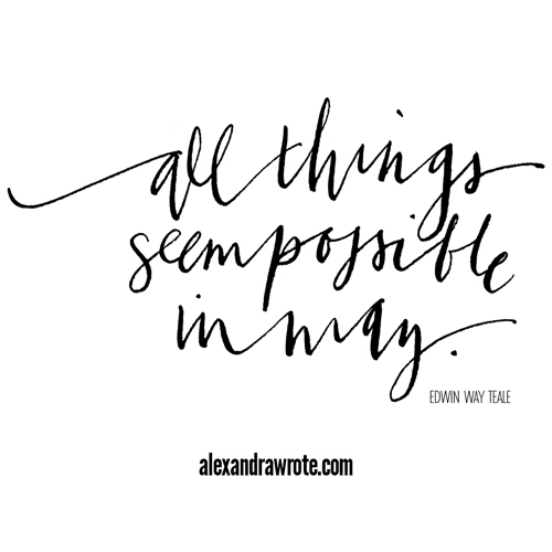 all things possible in may alexandra wrote