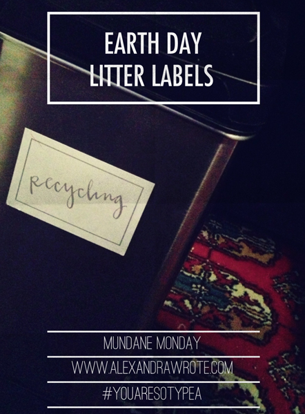 earth day litter labels