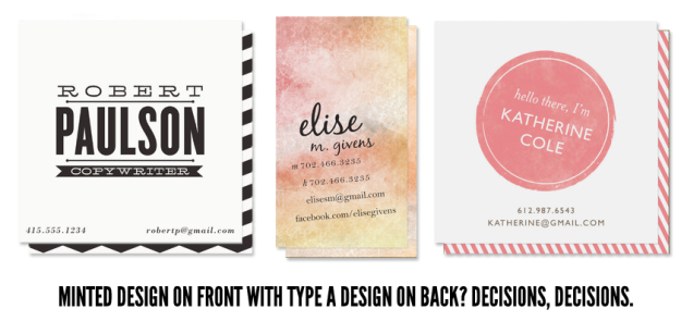 minted business card ideas type a alexandra wrote