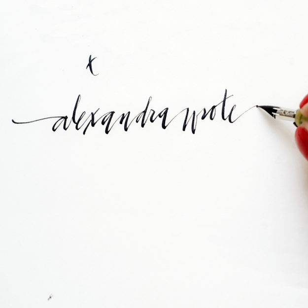alexandra wrot calligraphy type a