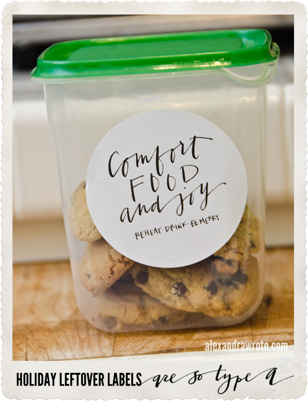 type a leftover cookie labels