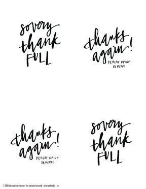 calligraphy thanksgiving leftover labels no color type a copy
