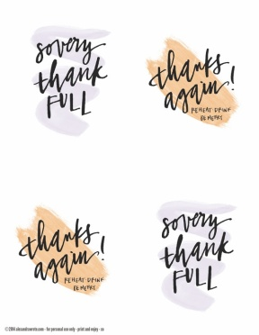 calligraphy thanksgiving leftover labels type a copy 2